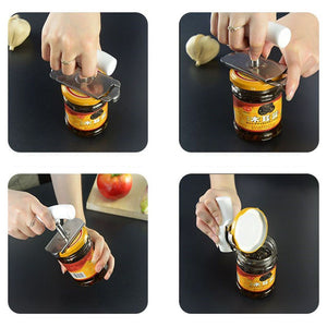 Stainless Steel Adjustable Jar Arthritis Can Opener Professional Kitchen