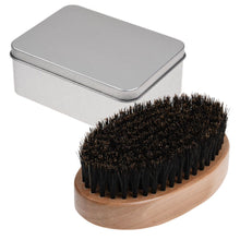 Load image into Gallery viewer, Men Boar Bristle Beard Brush Moustache Wood Round Handle Mens Beard Brush