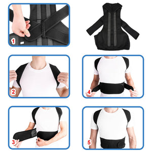 Back Posture Magnetic Shoulder Corrector Brace Belt Therapy Men Women
