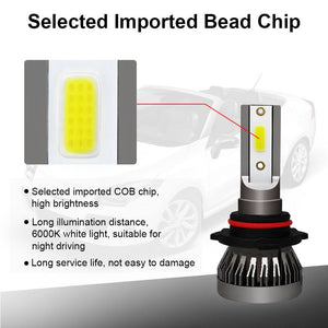 2 x H7 LED Headlight Conversion Kit COB Bulb 6000K