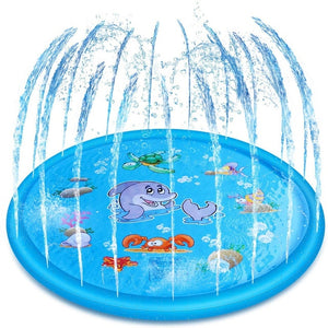 Kids Inflatable Water spray pad Round Water Splash Play Pool Playing Sprinkler Mat