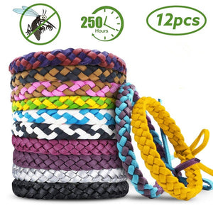 New Outdoor Anti Mosquito Pest Insect Bugs Repellent Repeller Wrist Band Bracelet Wristband