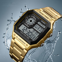 Load image into Gallery viewer, SKMEI Business Men Watches Waterproof Sport Watch Stainless Steel Digital Wristwatches
