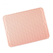 Load image into Gallery viewer, Eco-Friendly Silicone Reusable Non-slipping and Heat Resistant Dish Quick Drying Pad