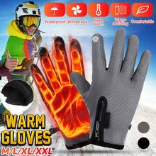 Load image into Gallery viewer, Heated Gloves Windstopers Winter Warm Gloves for Women Men Anti Slip Touchscreen Gloves