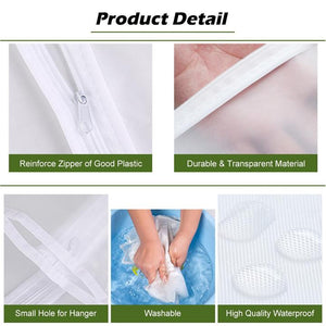 3 Pcs Washable Garment Bag with Full Zipper Clothes Storage Bag