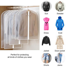 Load image into Gallery viewer, 3 Pcs Washable Garment Bag with Full Zipper Clothes Storage Bag