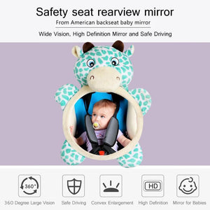 Car Safety Back Seat Rearview Mirror Adjustable Infant Baby Rear Monitor