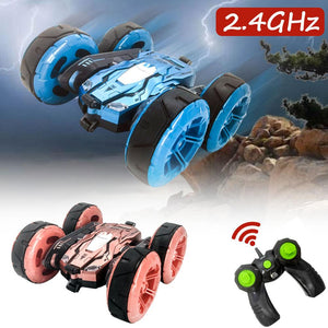 2.4G Double-Sided Stunt Car 360 Degree Rotating Children High-Speed Off-road Climbing Vehicle
