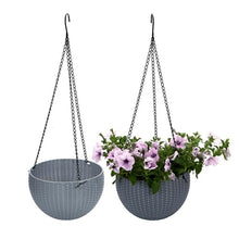 Load image into Gallery viewer, Plastic Self Watering Hanging Planter Basket Garden Flower Plant Hanger for Indoor Outdoor Use