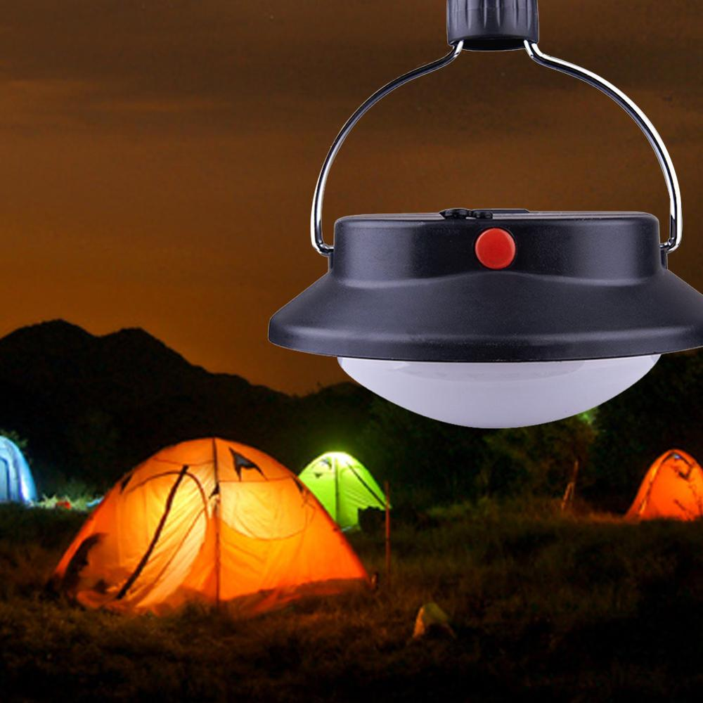 60 LED Ultra Bright Outdoor Camping Lamp Tent Light With Lampshade Circle ABS Rechargeable Lamp