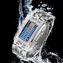 Load image into Gallery viewer, Creative Sport Watch Men Stainless Steel Strap LED Display Watches