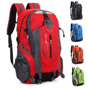 40L Outdoor Travel Backpack Sports Bag Camping Backpack Hiking Rucksack Students Backpack Water Resistant Hiking Bag Men Women