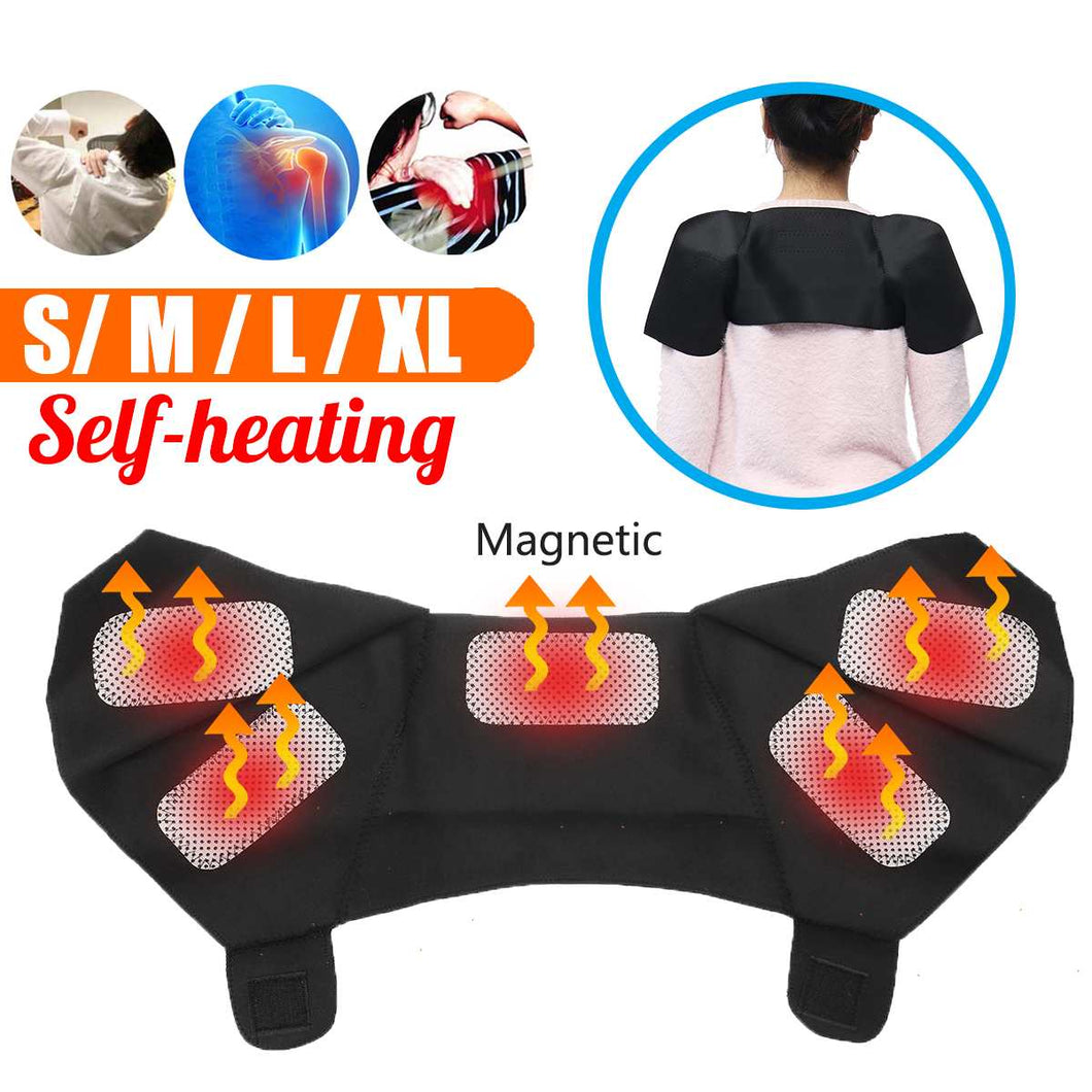 4 Size Shoulder Back Belt Self-Heating Protection Massage Belt