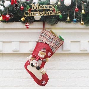 3 Pcs 3D Santa Christmas Stocking Christmas Decor