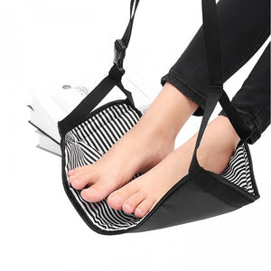Portable Plane Travel Table Footrest Hammock