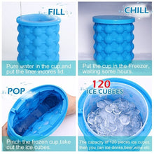 Load image into Gallery viewer, New Ice Cube Maker Genie Space Saving Silicone Ice Mug Mold Home Kitchen