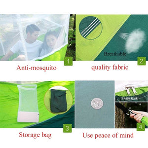 Outdoor Anti Mosquito Hammock Multifunctional with Mosquito Nets Hammock Super Light Portable Double Camping Air Tents