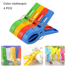Load image into Gallery viewer, 8 Pcs Plastic Color Clothes Pegs Beach Towel Clamp Laundry Clothes Pins Large Size Drying Racks Retaining Clip Organization