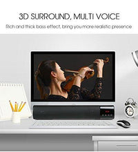 Load image into Gallery viewer, Portable Wireless HiFi Bluetooth Soundbar Speaker with Clock