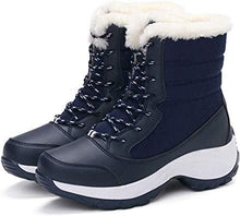 Load image into Gallery viewer, Women Winter Waterproof Warm Boots Fur Lined Snow Boots