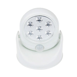 Wireless Motion Sensor 7 LED Safety Light - 360 Degree Rotation-Indoor/Outdoor
