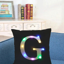 Load image into Gallery viewer, 26 Letter Color Lighting LED Cushion Cover Home Decor Throw Pillowcase