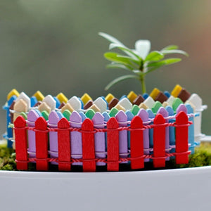 Tiny Fairy Potted Decor Furnishings Garden Wedding Wood Picket Fence Toy