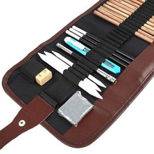 Load image into Gallery viewer, 18pcs/set Sketch Tool Kits Pencils Charcoal Extender Paper Pen Cutter Eraser Drawing Set