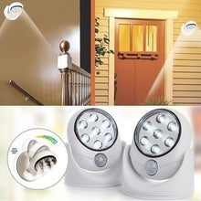 Load image into Gallery viewer, Wireless Motion Sensor 7 LED Safety Light - 360 Degree Rotation-Indoor/Outdoor