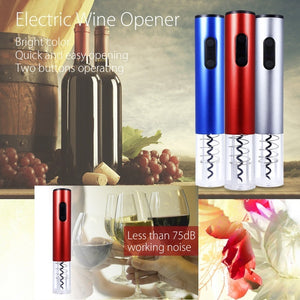 Electric Automatic Wine Stopper Opener Corkscrew with Foil Cutter