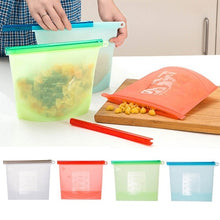 Load image into Gallery viewer, Silicone Fresh Bags Sealing Storage Home Food Kitchen Organization Gadgets