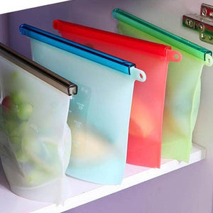 Silicone Fresh Bags Sealing Storage Home Food Kitchen Organization Gadgets