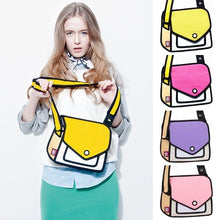 Load image into Gallery viewer, 2D Bags Gents and Lady Novelty Messenger Bag Unique Cartoon 3D Comic Handbags