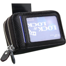 Load image into Gallery viewer, Large Leather RFID Scan Blocking Travel Wallet Identity Protection Credit Card Holde