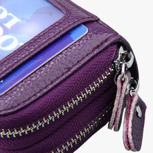 Large Leather RFID Scan Blocking Travel Wallet Identity Protection Credit Card Holde