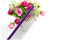 Load image into Gallery viewer, Pet Comb Professional Steel Grooming Comb Cleaning Brush