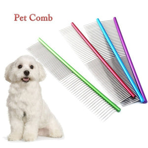 Pet Comb Professional Steel Grooming Comb Cleaning Brush