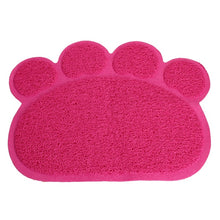 Load image into Gallery viewer, Cute Footprint Pet Dog Cat Puppy PVC Placemat Dish Bowl Feeding Food Mat Litter Tray Wipe Clean Pad