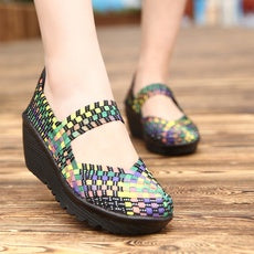 Women's Woven Shoes High Heels of Comfortable Shoes