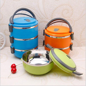 Thermal Insulated Lunch Box Picnic Storage Mess Tin Food Jar Multi layer Stainless Steel For Students Outdoor Camping