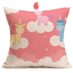 New Arrival Rainbow Cushion Case Decorative Unicorn Printed Christmas Decor Pillow Covers