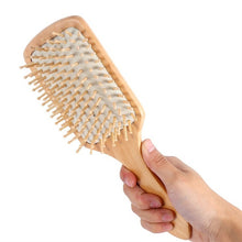 Load image into Gallery viewer, Natural Wooden Massage Comb Hair Scalp Health Care Paddle Hairbrush Tool