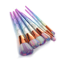 Load image into Gallery viewer, 7Pcs Rainbow Acrylic Brush Set Makeup Pen Face Base Powder Makeup Brushes