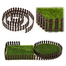 Load image into Gallery viewer, Tiny Fairy Potted Decor Furnishings Garden Wedding Wood Picket Fence Toy
