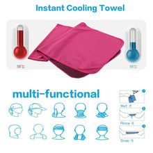 Load image into Gallery viewer, 100*30cm Cooling Towel Fitness Yoga Towels for Travel Camping Golf Football &Outdoor Sports