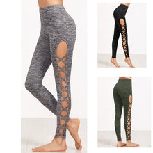 Load image into Gallery viewer, 3 Colors Available Womens Cutout Leggings Exercise Running Yoga Sports Fitness Gym Pants