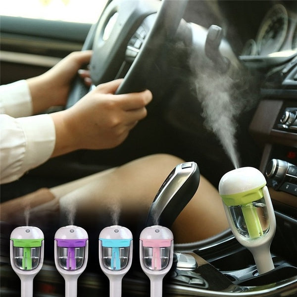 Car Humidifier Air Freshener Purifier Car Air Humidifier Aroma Oil Diffuser