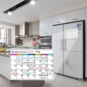 Magnetic Whiteboard Memo Stickers Monthly Message Boards for Refrigerator