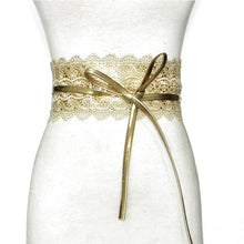 Load image into Gallery viewer, Lace Wide Belt All-match Belt Woman Luxury  Dress Belt Holiday Party Lover Gift